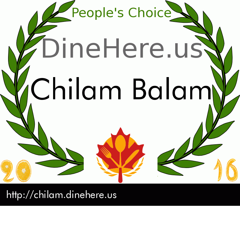 Chilam Balam DineHere.us 2016 Award Winner